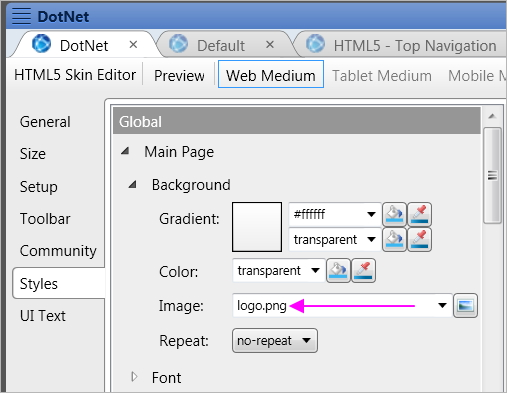 How to remove the madcap logo in webhelp output for Madcap flare templates