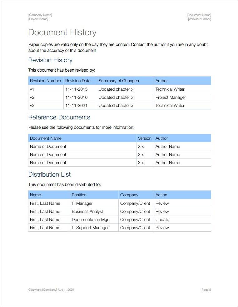 Sop Templates Apple Technical Writing Tools